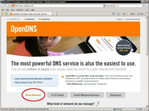 Go to www.opendns.com and click Home Network