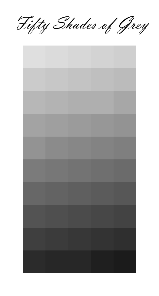 50 Shades of Grey … for web designers